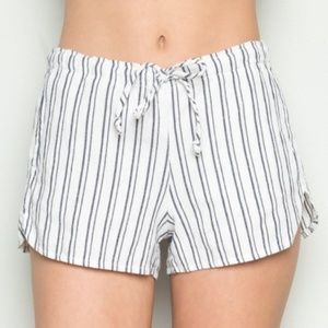 Brandy Melville striped white shorts